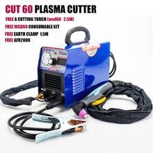 Plasmargon CUT60 плазменный резак IGBT для 10-60А КВ резки 110/220 В бесплатная AG60 комплект расходных материалов