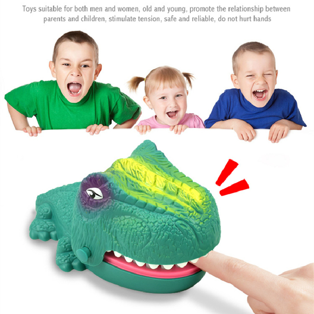 Funny Board Game Toys Crocodile Mouth Dentist Bite Finger Toy Large Crocodile Pulling Teeth Bar Games Toys Kids For Children 2