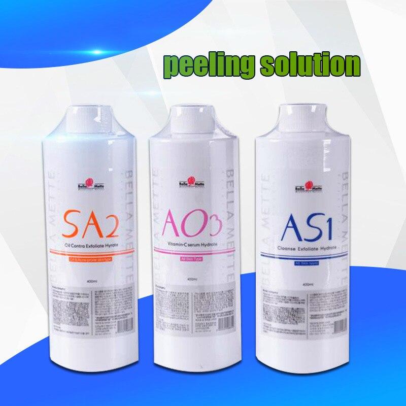 2020 Newest Aqua Peeling Solution AS1 SA2 AO3 Aqua Facial Serum Hydra Facial Serum For Normal Skin Use Fast Free Shipping