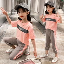 Girls Clothes 2020 New Summer Kids Sets Short Sleeve T-Shirt + Pants Set 3- 14 Years Teenager Children Girl Clothing Sport Suits цена 2017