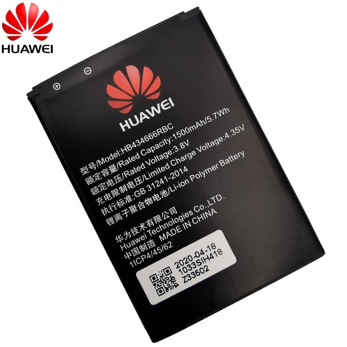 100% Original Battery HB434666RBC For Huawei Router E5573 E5573S E5573s-32 E5573s-320 E5573s-606 -806 High Capacity 1500mAh 3