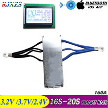 17S to 20S 160A 2020 new DIY Lifepo4 li ion smart bms pcm with android Bluetooth app software WITH large current