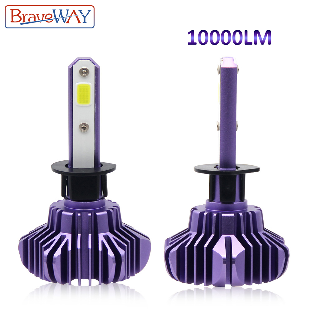 BraveWay H1 H3 <font><b>LED</b></font> COB Chip Car Headlight H7 <font><b>LED</b></font> <font><b>H4</b></font> 9005 HB3 9006 HB4 H11 H8 H9 <font><b>10000LM</b></font> 6500K 12V for Motorcycle Conversion Kit image
