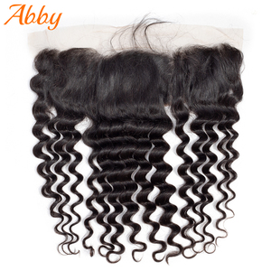 Brazilian Loose Deep Lace Frontal Remy Hair 100% Human Hair For Women 13x4 Lace Frontal Abby Hair Free Shipping