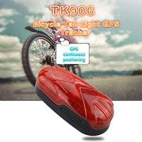 Versteckte Bike GPS Tracker Bike licht Locator Rastreador Fahrrad Tracking Gerät TK906 Standby 300 Stunden Lebenslange KOSTENLOSE Plattform