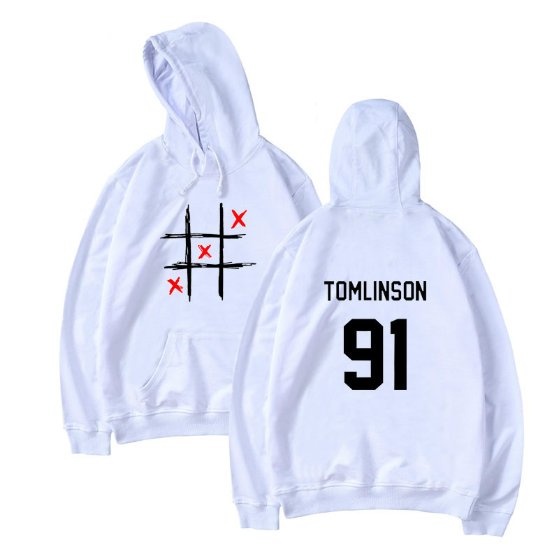 Best Selling Louis Tomlinson Hoodie Spring Fall Men/women Sweatshirt Lett ErPrint Miss You Tomlinson Hooded Top White Casual 4XL