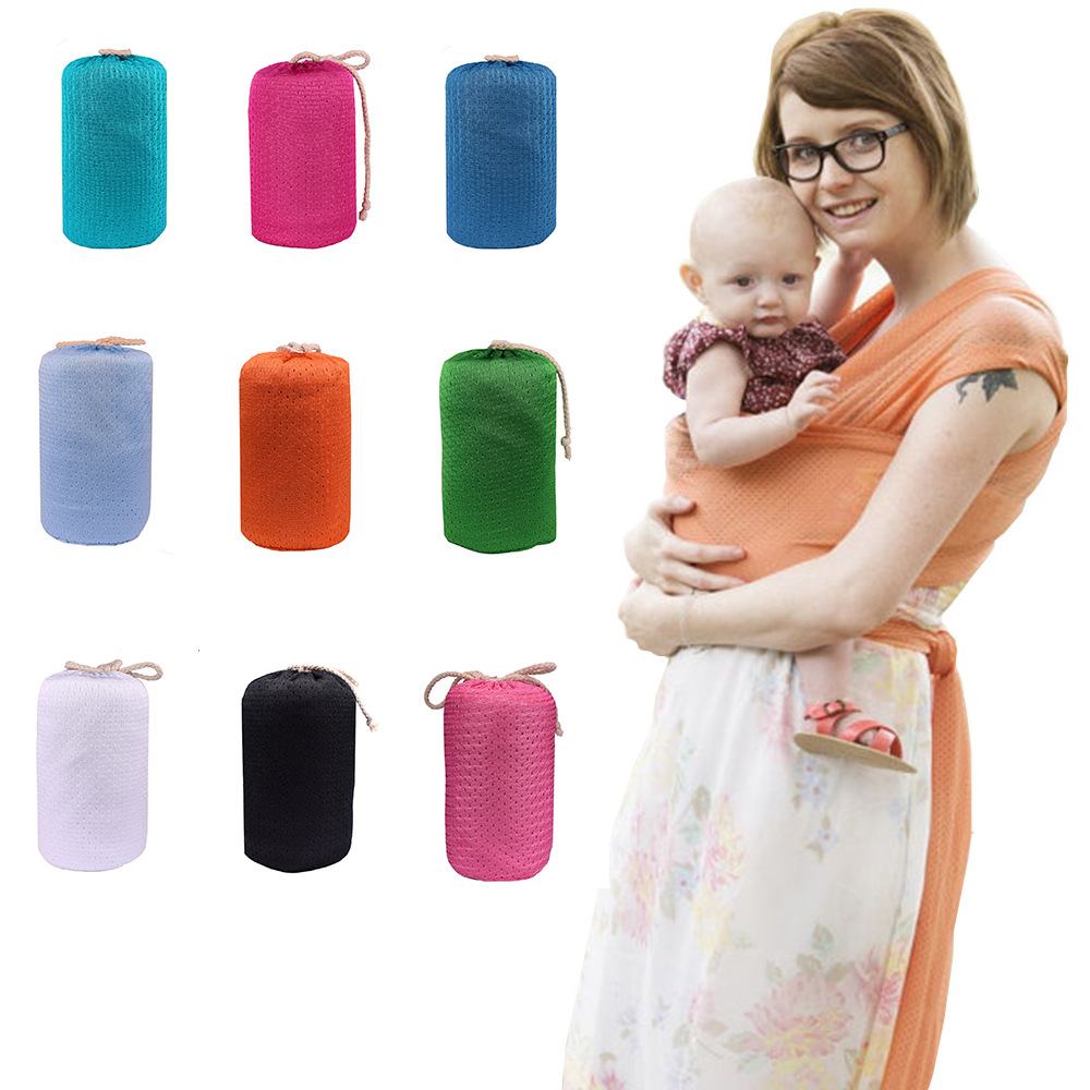 Breathable Baby Mesh Baby Sling Travel Water Quick-Drying Breathable Long Strap Beach Towel