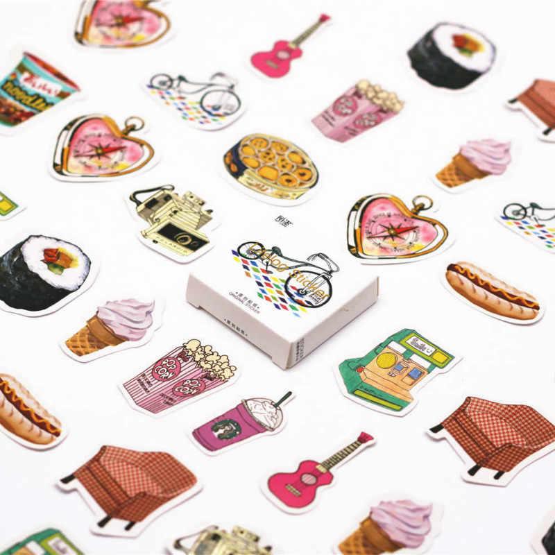 45 pçs/caixa sonho da menina kawaii rosa adesivo de parede adesivos para quartos dos miúdos meninos meninas crianças quarto decoração casa