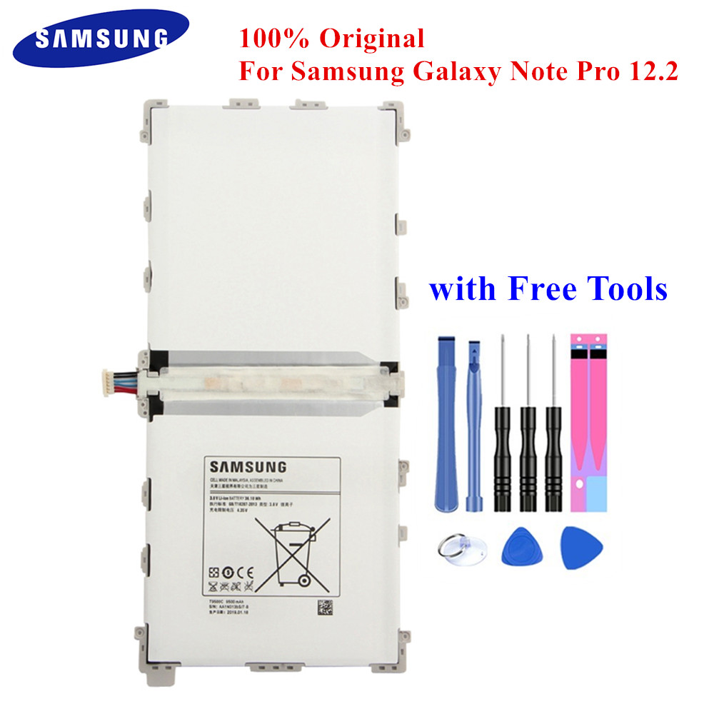 100% Original Tablet Battery T9500E For Samsung Galaxy Note Pro 12.2 SM-P900 P901 P905 T9500C T9500U T9500K 9500mAh Akku +Tools