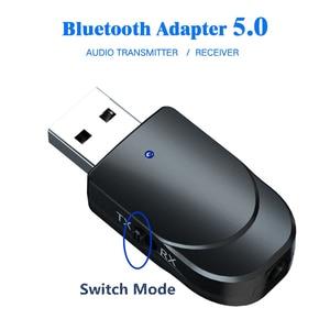 Image 2 - KEBIDU receptor USB con transmisor Bluetooth 5,0, adaptador inalámbrico de Audio, música, estéreo, Dongle para TV, PC, audífonos con Altavoz Bluetooth
