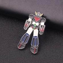 Goldorak jfo ufo robô grendizer anime metal liga de zinco esmalte pinos e broches para mulher lapela pino mochila sacos presentes