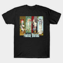 Foolish Mortals T-Shirt Haunted Mansion t shirt phantom manor doom buggy hatbox ghost hitchhikingghosts hitchhiking ghosts(China)