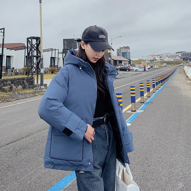 Размера плюс Для женщин зимняя куртка с капюшоном хлопковые свободные женские пальто Толстые ветрозащитный Повседневное пуховая зимняя ку... - 3