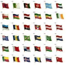 Broche de crachá de pino de lapela de bandeira albânia argélia montenegro eua. Omã azerbaijão etiópia irlanda estónia andorra áustria austrália
