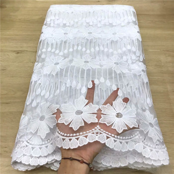 white African Milk Silk Net Lace Fabric High Quality French Lace Fabric Hot Sale Nigerian Tulle Lace Fabric sequins For Wedding