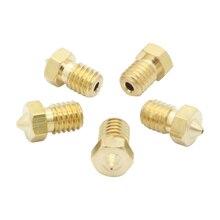 5pcs New 0.4mm Brass Nozzle 1.75mm V5&V6 Extruder For 3D Printer Accessories Part Supplies
