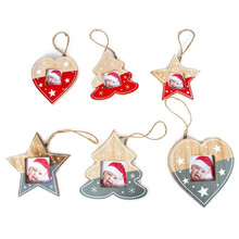 1pcs Romantic Photo Frame Pendant Crafts Christmas Tree Hanging Kids Home Decor Ornaments Free Shipping