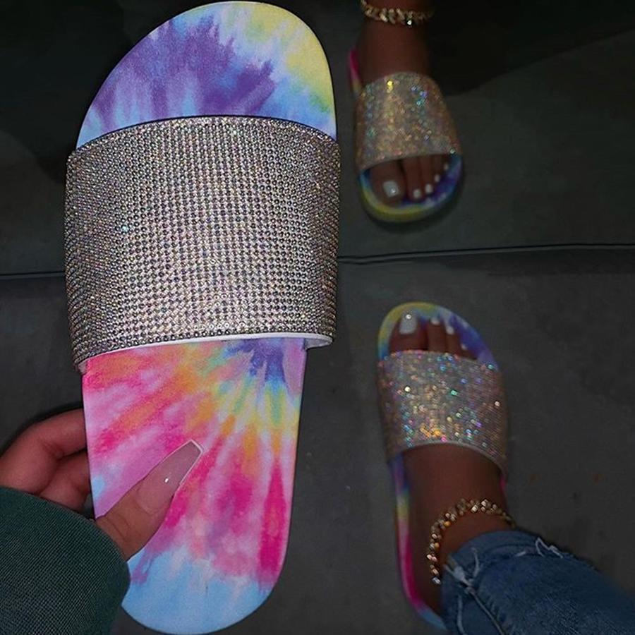 2020-INS-Hot-Rhinestones-Mix-color-Sandals-Women-Summer-Beach-Slipper-Handmade-thick-Bottom-Sandals-Outdoor (1)