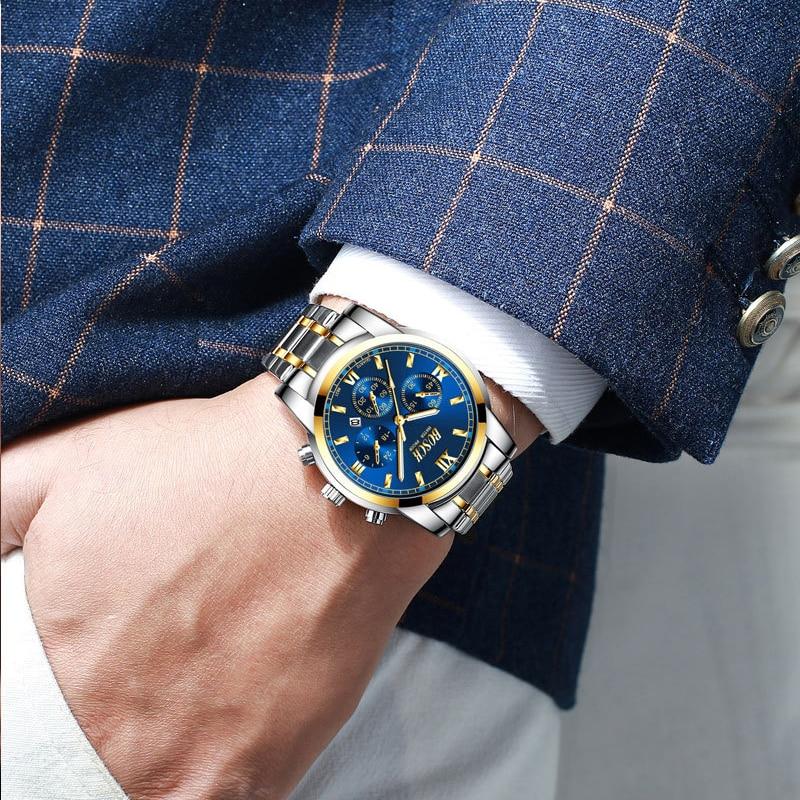 Купить мужские черные повседневные кварцевые часы bosck с циферблатом