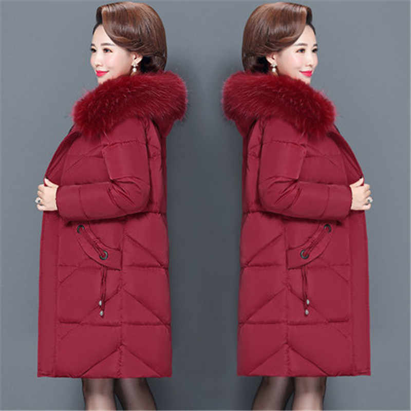 2019 new Plus Size 6XL Winter Jacket Female Down Cotton Padded Clothes Women Casual Slim Parka Middle-aged Coat Overcoats V1011
