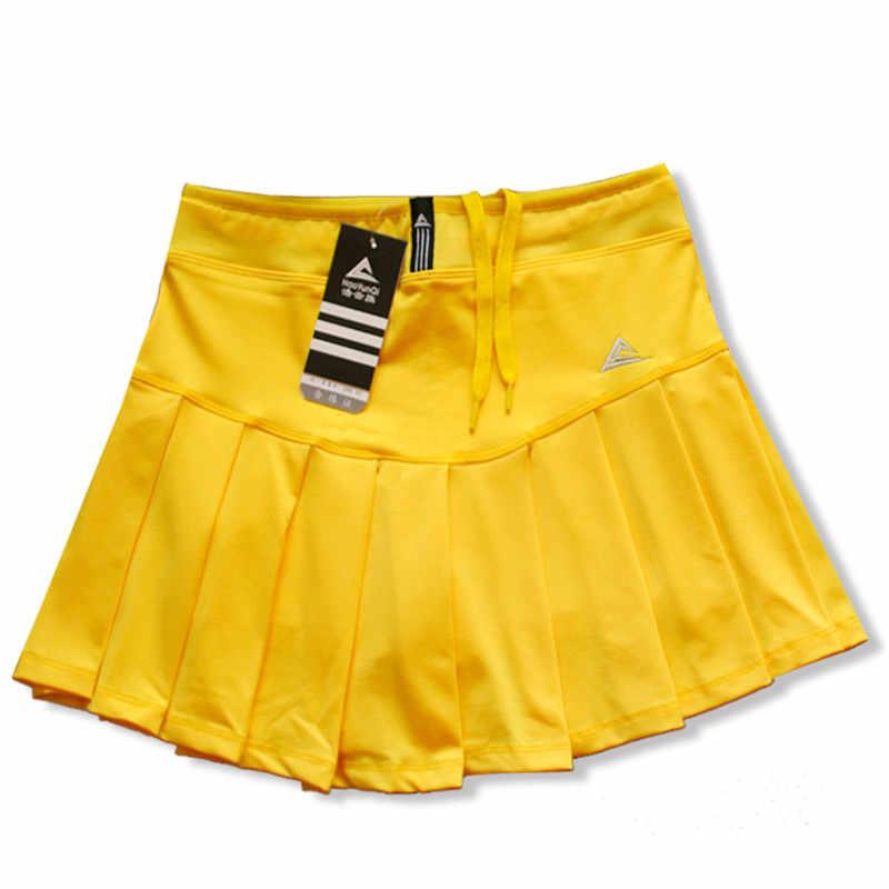 Frauen Skort Quick Dry Sport Badminton Pantskirt Tragen Rock Plissee Hosen Tasche Tennis Rock Cheerleader Kleidung