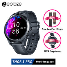 [Free Leather Straps]Zeblaze THOR 5 PRO Ceramic Bezel 3GB+32GB Smartwatch Dual Camera Face Unlock Multi-language Smart Watch Men(China)