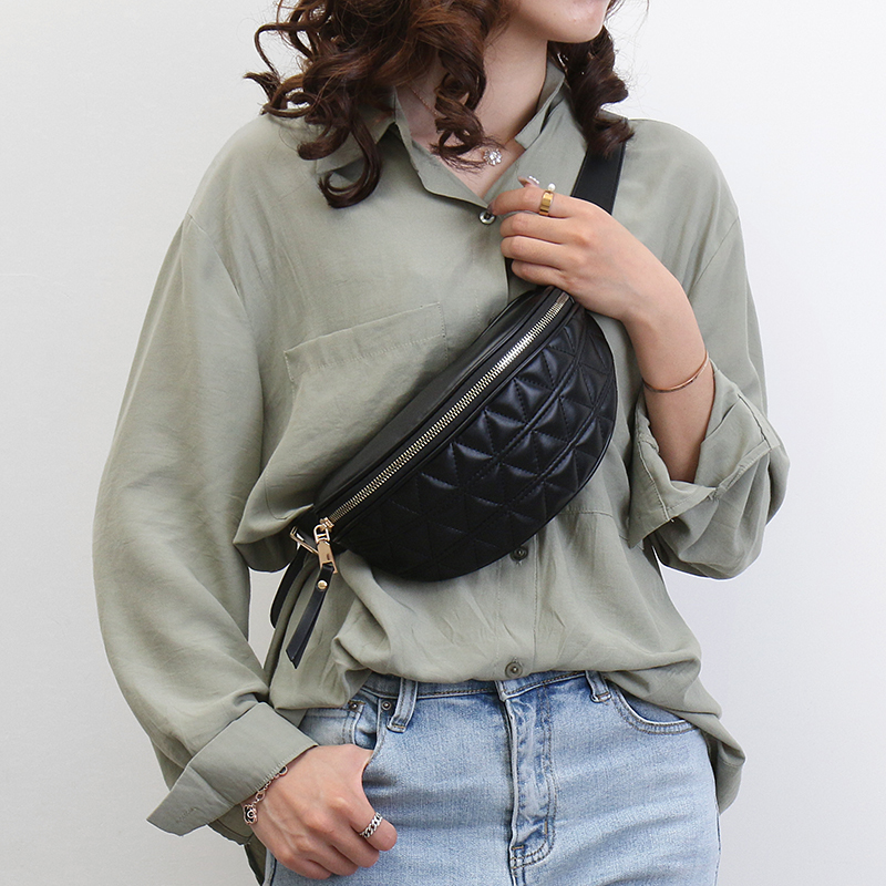 PU Leather Fanny Packs For Women Solid Color Small Summer Fashion Waist Packs Female Phone Purses Ladies Chest Bags Mini Bag