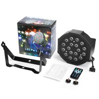 OUTAD 18LED Par Lights for Stage Lighting with RGB Magic Effect by Remote Control and 512 Red Green Blue Light