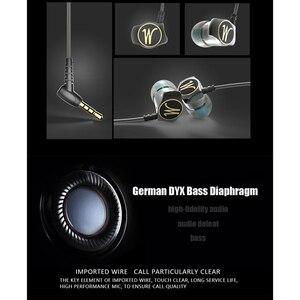 Image 5 - QKZ DM7 Speciale Editie słuchawki metalowe Stereo izolacja hałasu słuchawka douszna wbudowany mikrofon HiFi ciężki bas 3.5mm słuchawki douszne HD HiFi
