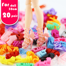 Sandals Boots Shoes Shoes-Accessories Doll Colorful Fashion for 1/6 Random-Style 20-Pairs