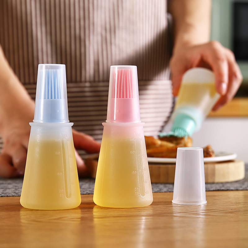 Bottle-Brush Oil-Tool High-Temperature-Resistant Silicone Household