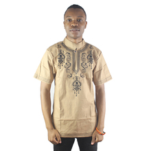 Africa Dashiki Embroidery Men`s Ethnic Tops Vintage Tunic Shirts For Wedding