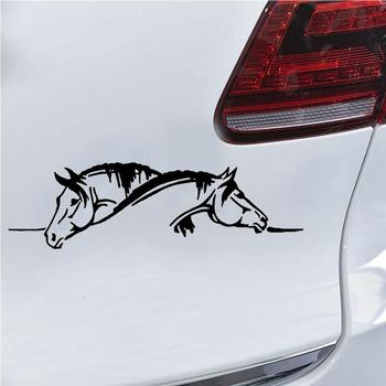 Car Sticker Double Horse Car-Styling Vehicle Body Window Reflective Decals Sticker Decoration Auto Tuning Styling 2019 Funny Sig image