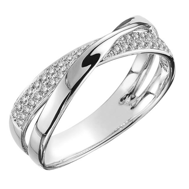 beautiful two-tone criss-cross diamonelle ring 2