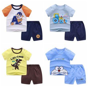 Zestawy ubrań dla chłopców 0-4T lato noworodków dziewczynek ubrania dla niemowląt bawełniane bluzki + spodnie 2 sztuk stroje zestaw ubrań dla dzieci tanie i dobre opinie COTTON Na co dzień O-neck Swetry Krótki REGULAR Pasuje prawda na wymiar weź swój normalny rozmiar Bawełna czesana