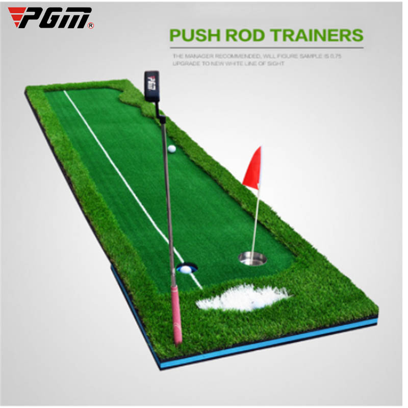 PGM Golf Putter Putting Trainer Indoor Training Equipment Golfs Ball Holder Training Aids Tool Office Green Fairway Practice Mat