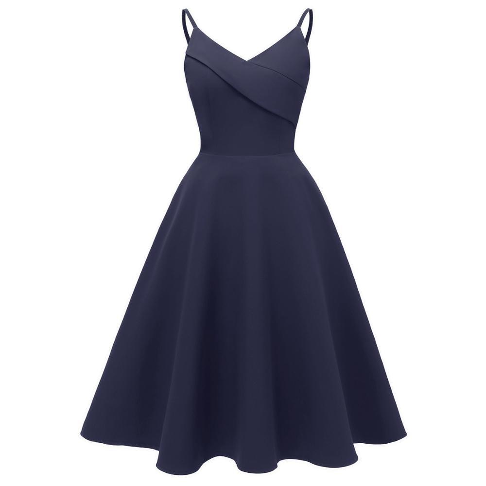 Women Solid Vintage Dress