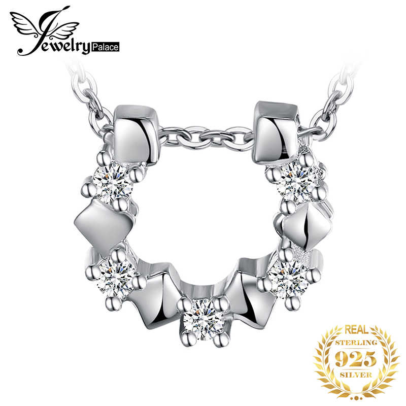 JPalace Horseshoe Silver Pendant Necklace 925 Sterling Silver Choker Statement Necklace Women Silver 925 Jewelry Without Chain J