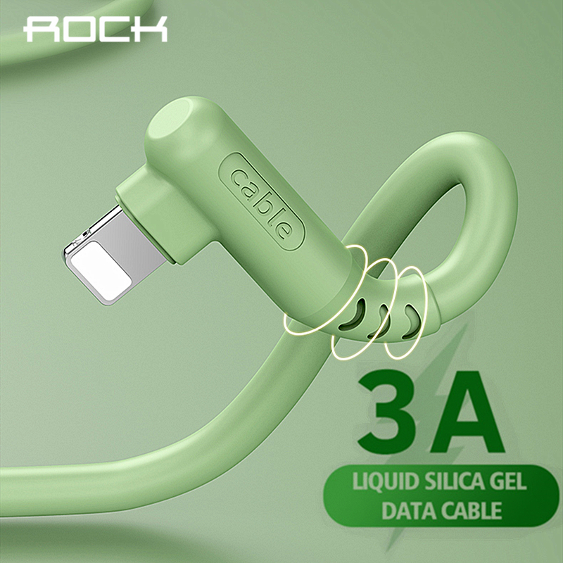 ROCK 3A жидкий силиконовый USB кабель для iPhone 11 Pro Max X XR XS 8 7 6S SE 5s iPad быстрое зарядное устройство USB кабель 1 м 2 м|Кабели для мобильных телефонов|   | АлиЭкспресс - Топ аксессуаров для смартфонов