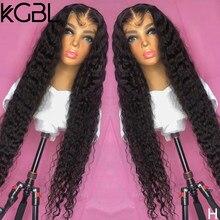 Parrucche per capelli umani anteriori in pizzo 13*6 ricci di colore naturale KGBL pre-pizzicate 8-24 ''densità Non Remy 180% per donne media brasiliana