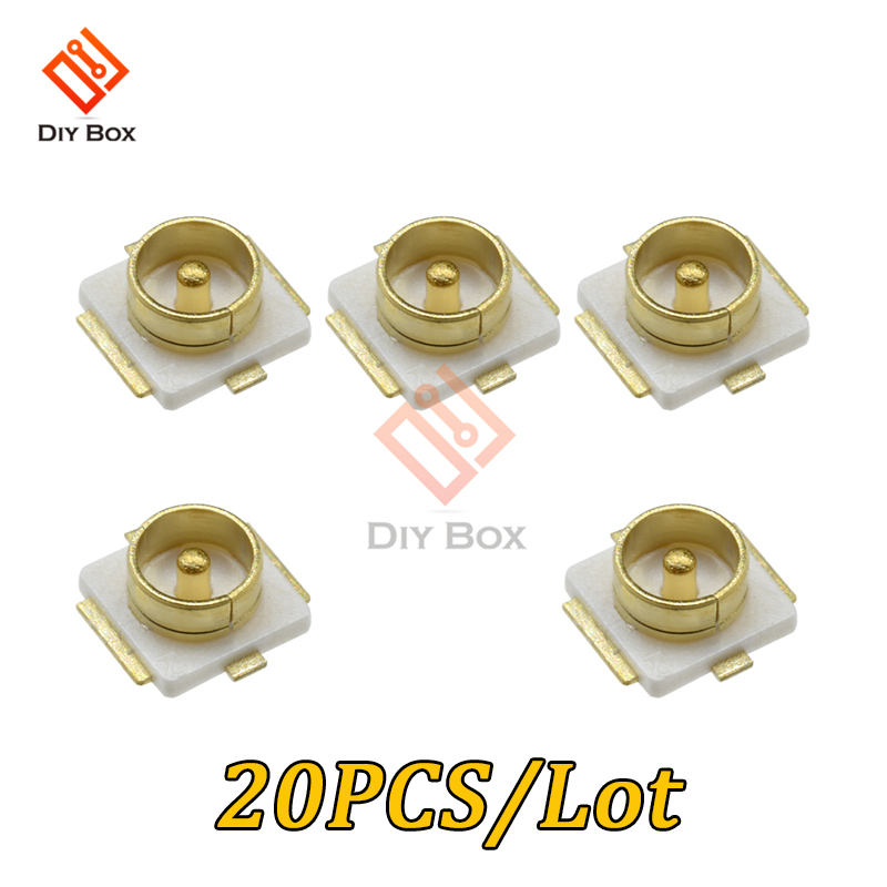 20PCS/Lot High Quality UFL IPEX / IPX Connector SMD SMT Mount Socket Jack Female U.FL-R-SMT RF Coaxial Connectors Antenna Seat