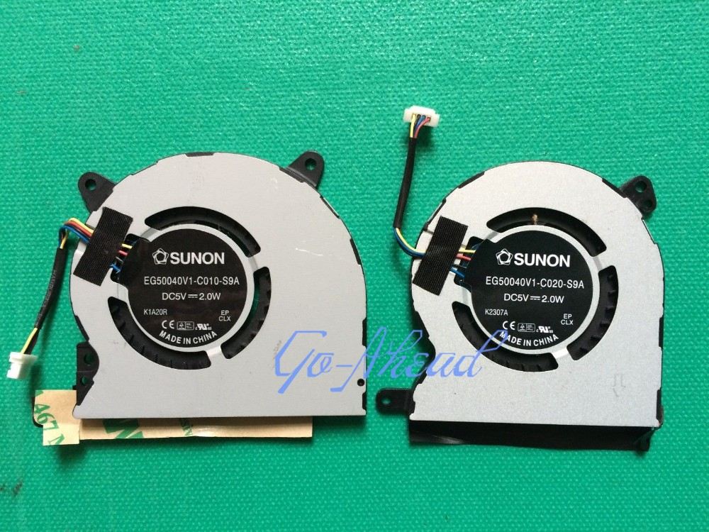 Laptop CPU Cooling Fan For Lenovo Ideapad U300s U300S-2DU EG50040V1-C020-S9A EG50040V1-C010-S9A L+R One Pair Cooler