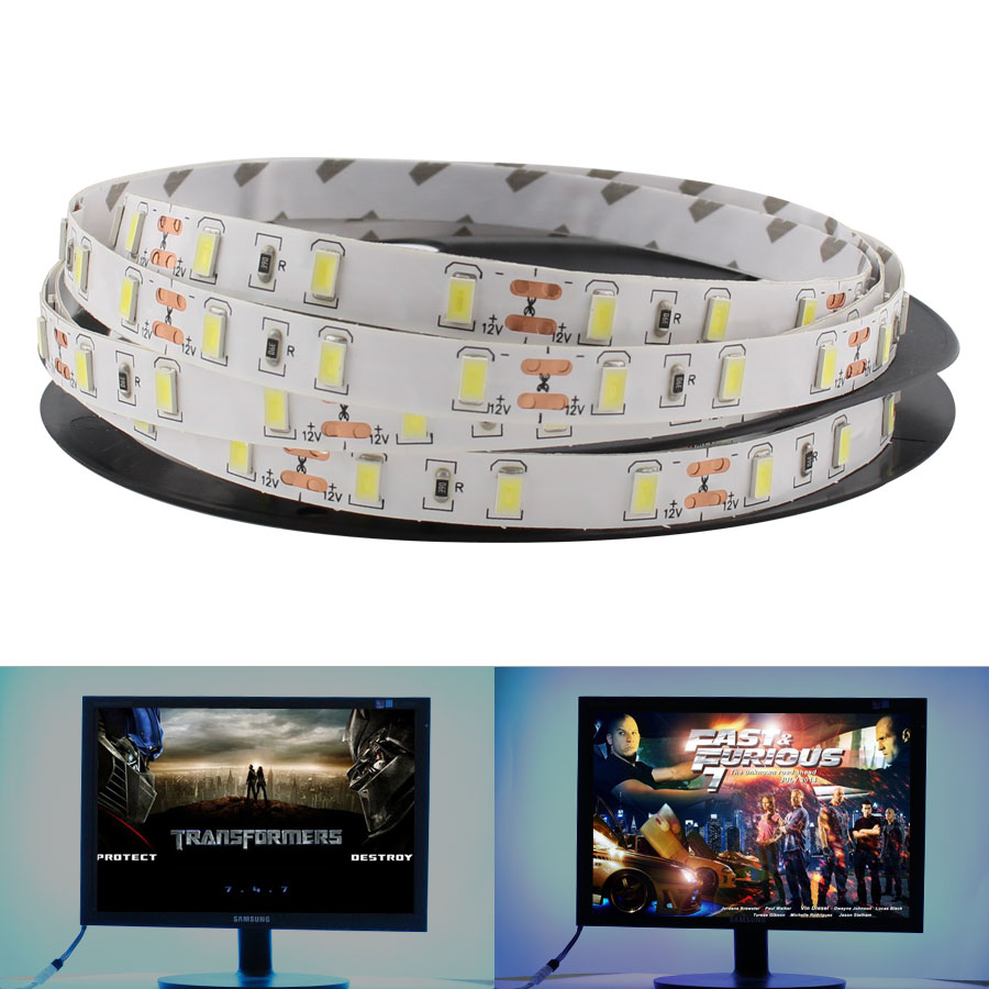 DC 12 V LED Strip Light NO Waterproof 5730 Blue Warm White Green Red Led TV Backlight 5M 60LEDs/m Tape Lamp Led Diode Lighting