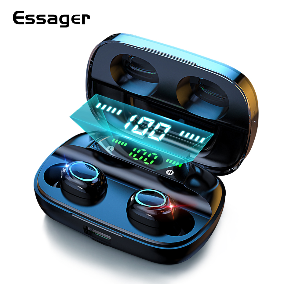 Essager S11 TWS Wireless Bluetooth 5 0 Earphone Headphones Mini Cordless Headset True Wireless Earbuds For Phone Xiaomi iPhone