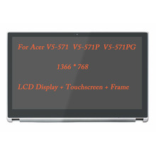 15.6 For Acer V5-571 571P 571PG LCD Touch screen with Frame B156XTN03.1 EDP 30p 1366
