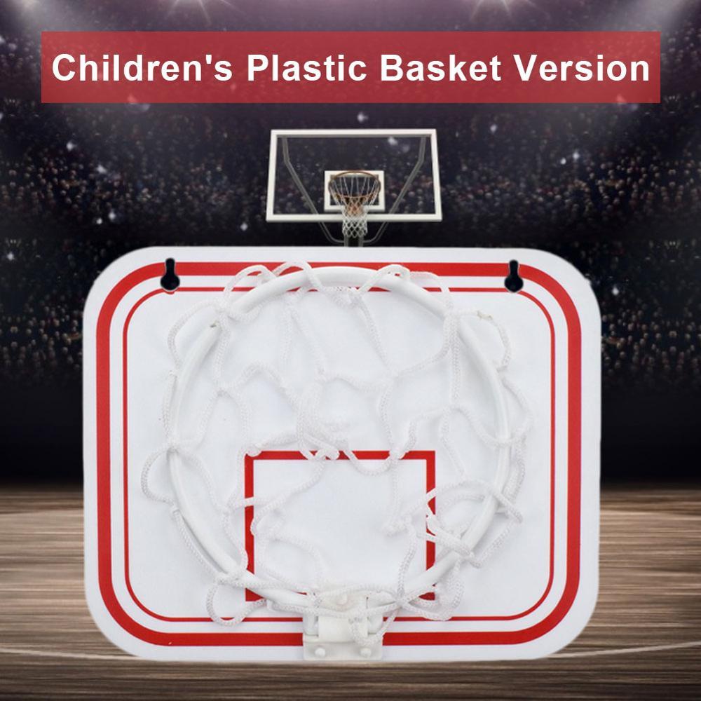 Небьющаяся Задняя панель для помещений, мини спортивный удар, Бесплатная игрушка, настенные подвесные Детские баскетбольные обручи, набор ...