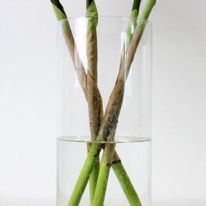 Image 4 - 90 センチメートルグリーン人工ヤシの葉プラスチック植物ガーデンホーム装飾コガネバナ熱帯木フェイク植物