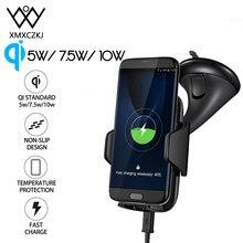 XMXCZKJ 10 W Qi draadloze oplader mobiele telefoonhouder Ondersteuning voor iPhone 11 X 8 Autodashboard Mount Klem Snel opladen Stand