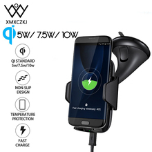 XMXCZKJ 10W Qi Supporto caricabatterie wireless per cellulare Supporto per iPhone 11 X 8 Supporto per cruscotto per auto Supporto per ricarica rapida