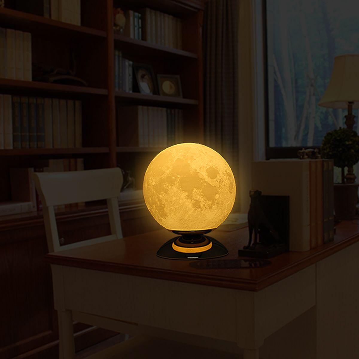 Moon Lamp 3D Printing Lamp Modern Sculpture Home Decoration Ornament Artwork Modern Art Moon Lunar Decor Gift US Plug - 6